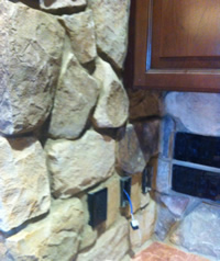 Custom Stonework at servers station